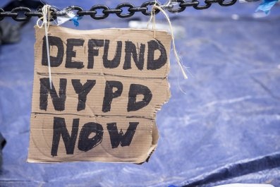 Protest sign in New York City