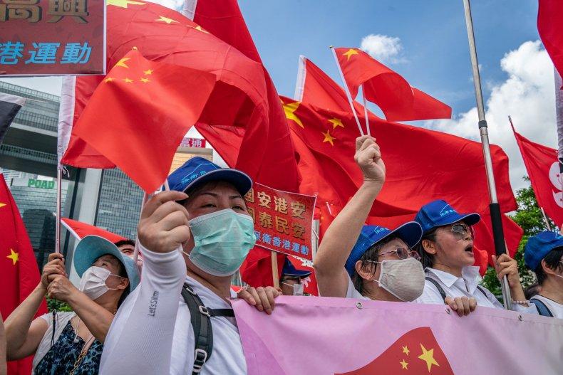china, pro, beijing, rally, hong, kong