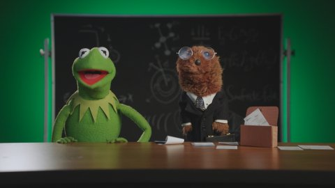 Kermit the Frog on Disney+' 'Muppets Now'