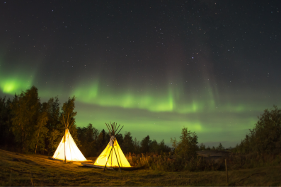 Camping in Northern Lights