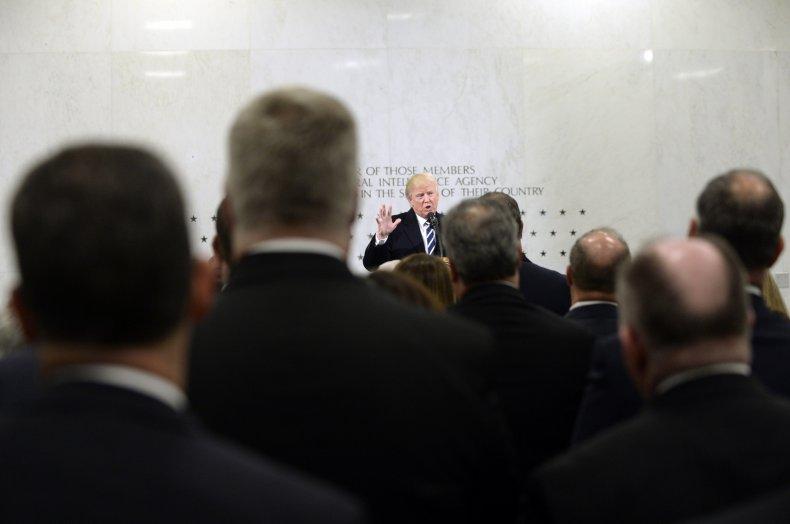 President Donald Trump at CIA Headquarters
