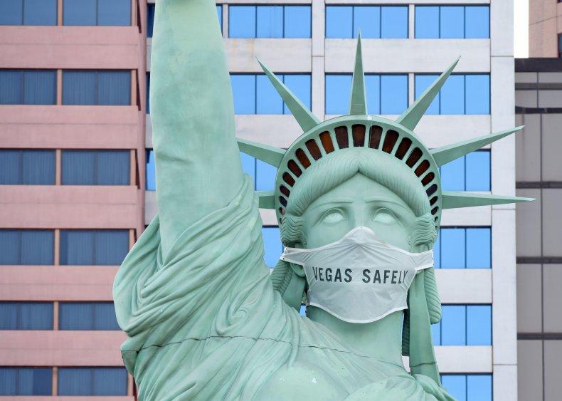 Lady Liberty Las Vegas statue July 2020