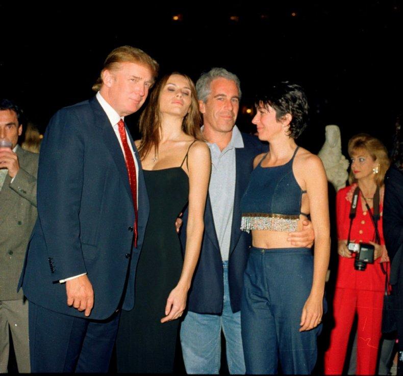 The Trumps with Ghislaine Maxwell, Jeffrey Epstein