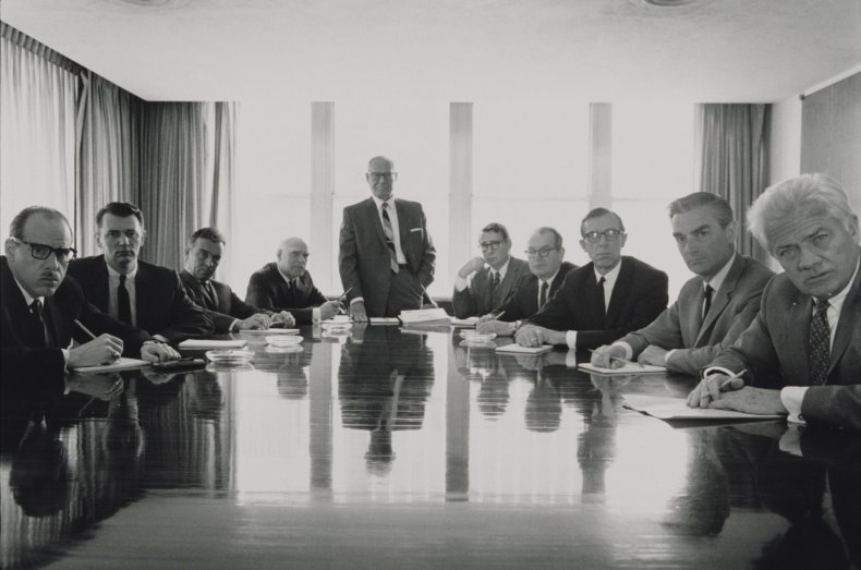 Board meeting in the 1990s