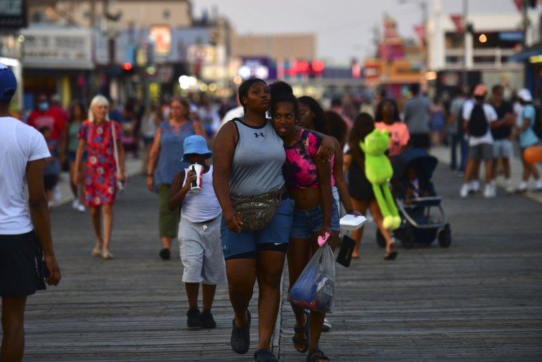 New Jersey boardwalk July 2020