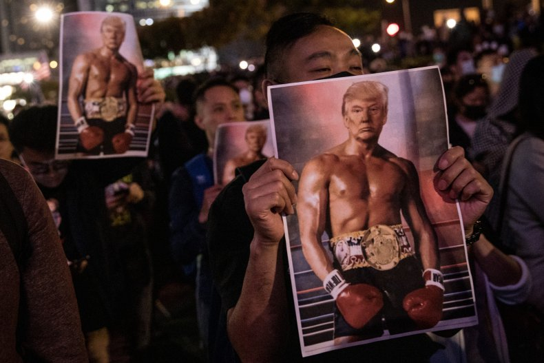 hong, kong, protests, donald, trump