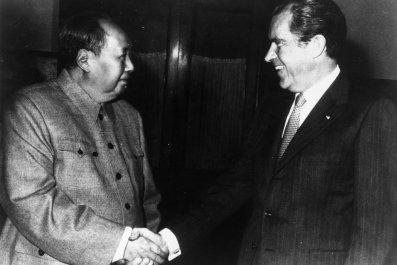 Mao Zedong and President Richard Nixon in