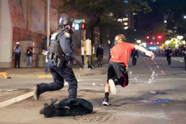 Protester Escapes Federal Officer, Portland
