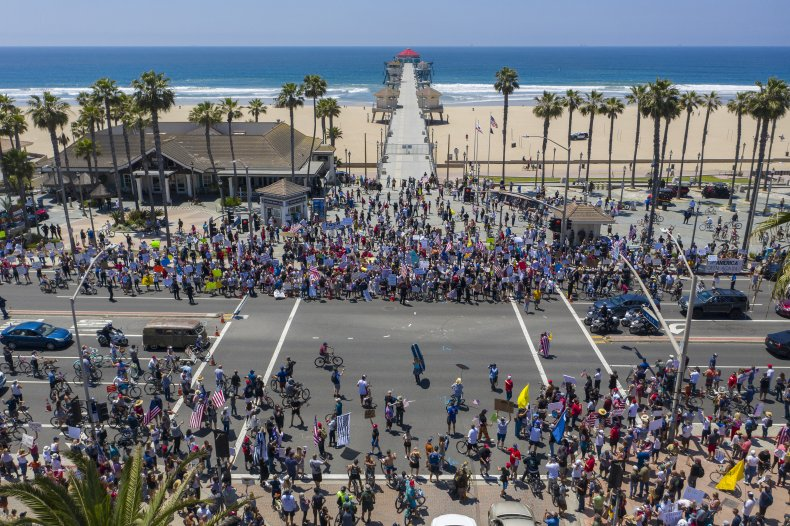 Huntington Beach, California, coronavirus protest, May 2020