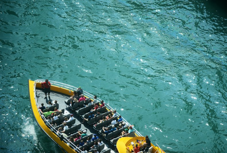 Chicago River, tour boat, Illinois, June 2012