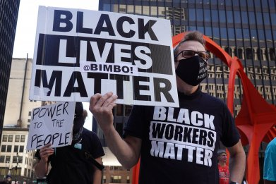 Black Lives Matter protesters in Chicago