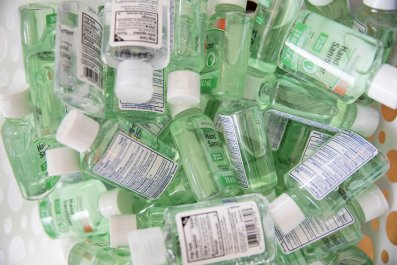 hand sanitizers in Washington D.C. March 2020