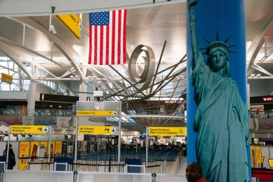 JFK airport New York City March 2020