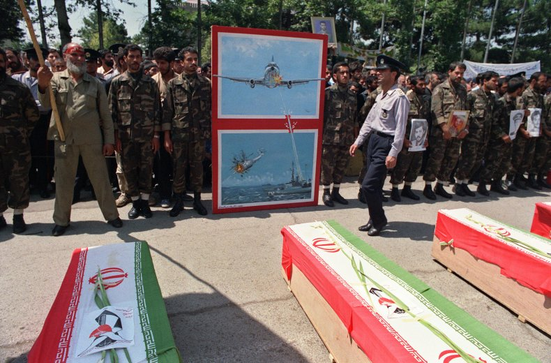 iran, air, flight, 655, funeral, tehran