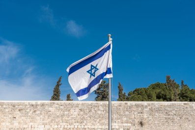 Israeli flag in Jerusalem