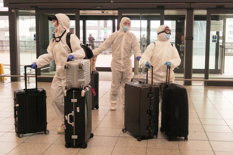 Hazmat Suit London Airport