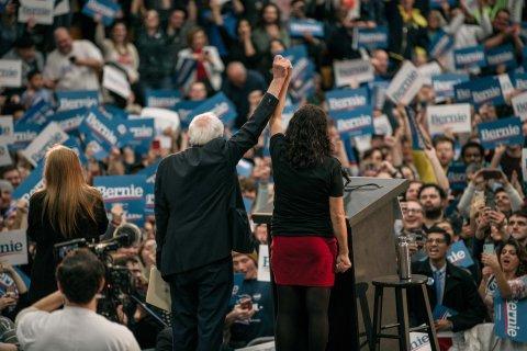 Tlaib at Sanders Rally