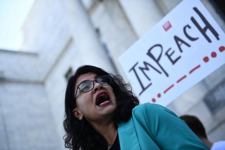 Tlaib Calls to Impeach Trump