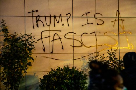 Anti-Trump Graffiti in Oakland, California