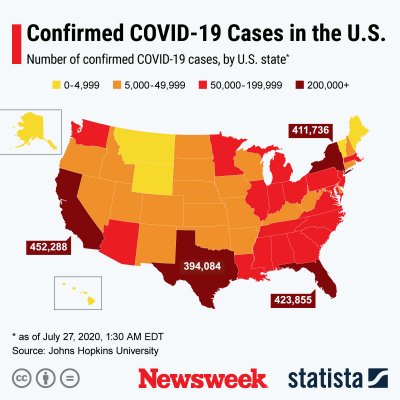 map of COVID-19 cases in U.S.