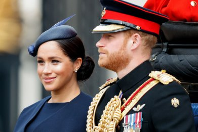 Meghan Markle and Prince Harry at Trooping