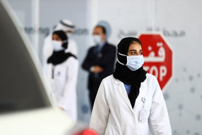 Abu Dhabi, medical worker, April 2020
