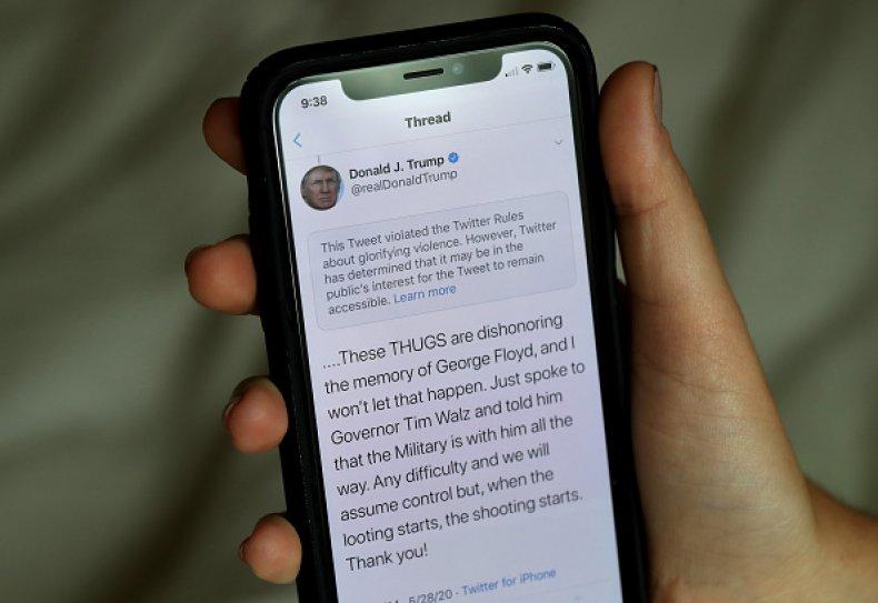 Trump Tweet Flagged