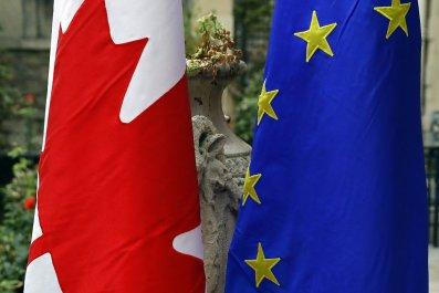 Canada and EU Flag
