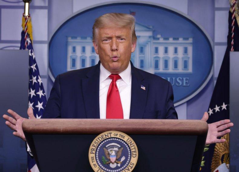 Donald Trump on July 28, 2020