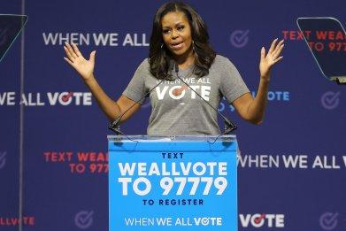 michelle obama vote trump november election