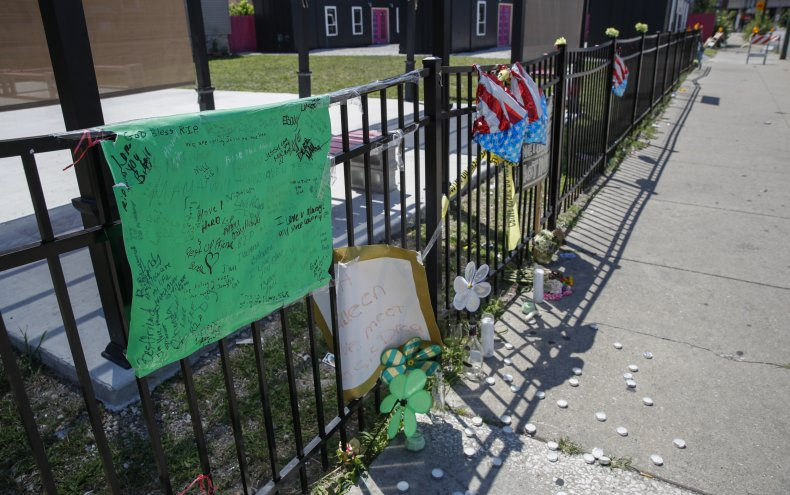 Memorial in South Side Chicago