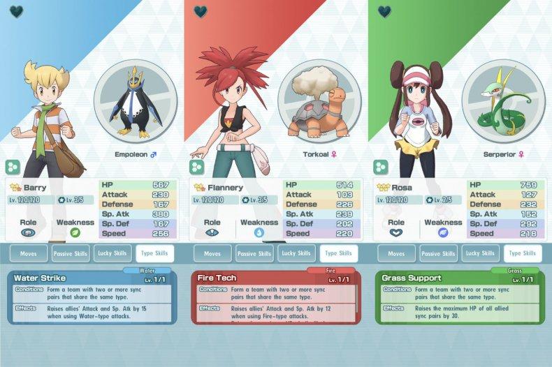 pokemon masters type skill