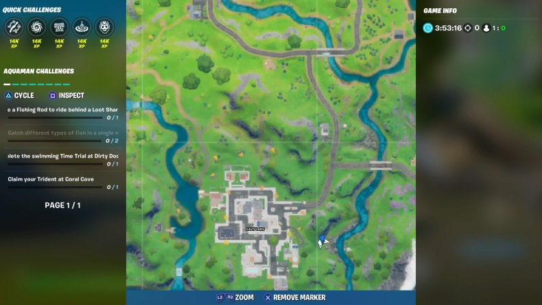 fortnite rapids rest location map week 7