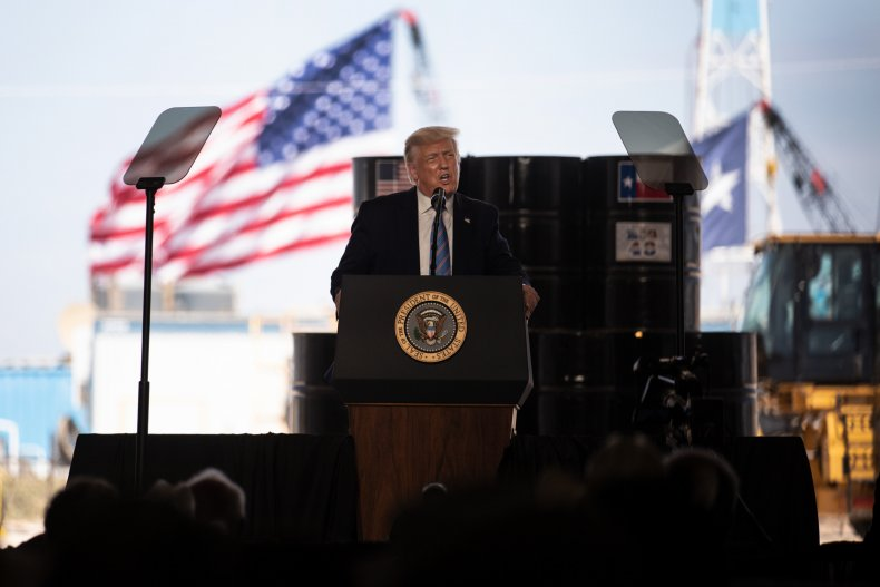 President Donald Trump in West Texas