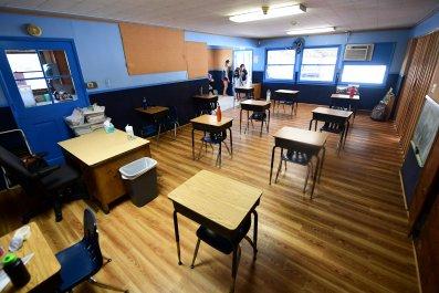 Elementary school classroom in California
