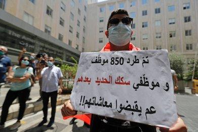 Protestor in Beirut, Lebanon