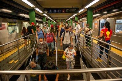 MTA riders