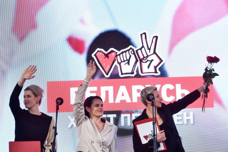 Presidential candidate Svetlana Tikhanovskaya