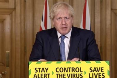 Boris Johnson in press conference