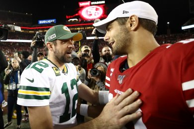 Aaron Rodgers, Jimmy Garoppolo, Green Bay Packers