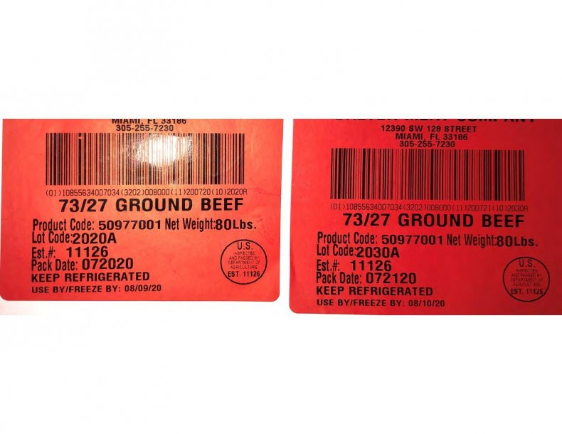 USDA FSIS Ground beef recall