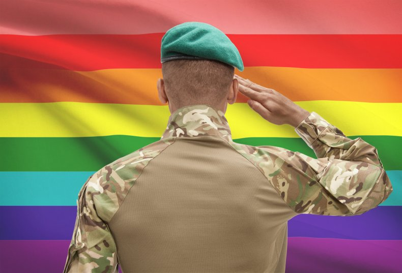 LGBTQ Flag with Soldier