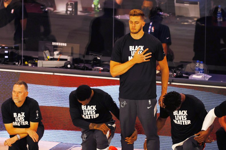 Nba Player Who Stood During Anthem Says He Doesn T Understand How World Turned Into Black And White