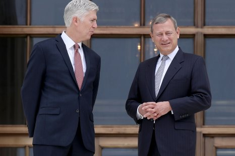 Justice Neil Gorsuch with Chief Justice
