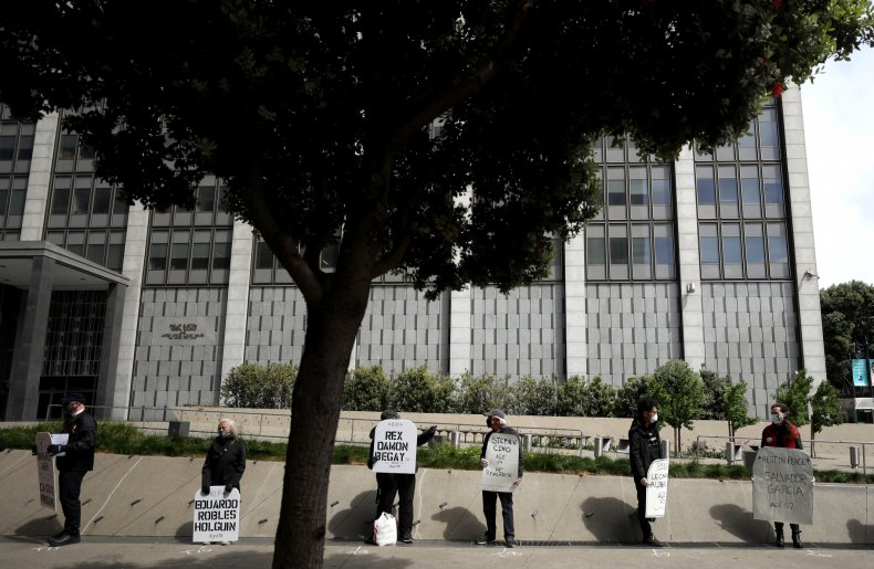 Federal prison protest