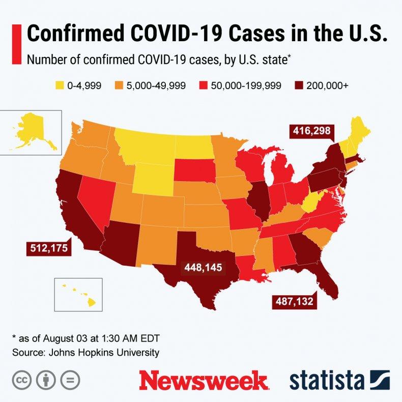 Spread of COVID-19 cases in U.S.