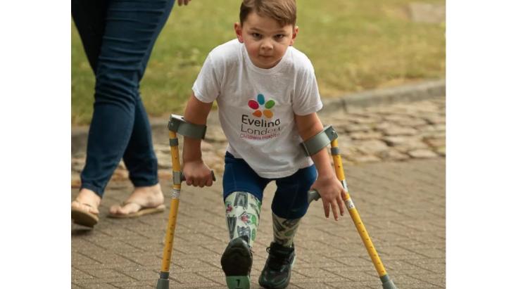 My Five-Year-Old Raised .6m Walking 6 Miles Using Prosthetic Legs
