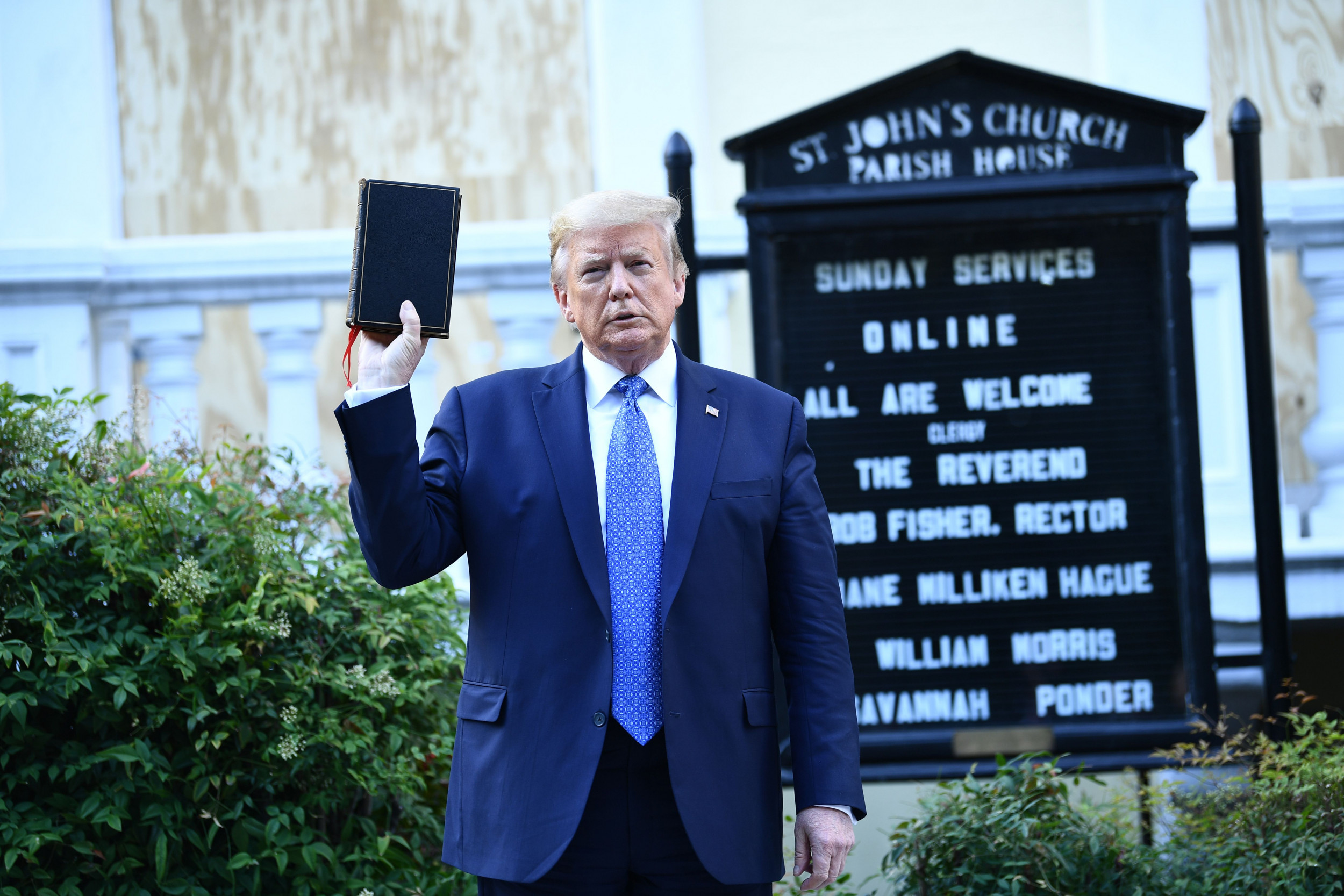 Trump, at risk of losing white evangelicals, attacks Biden on God