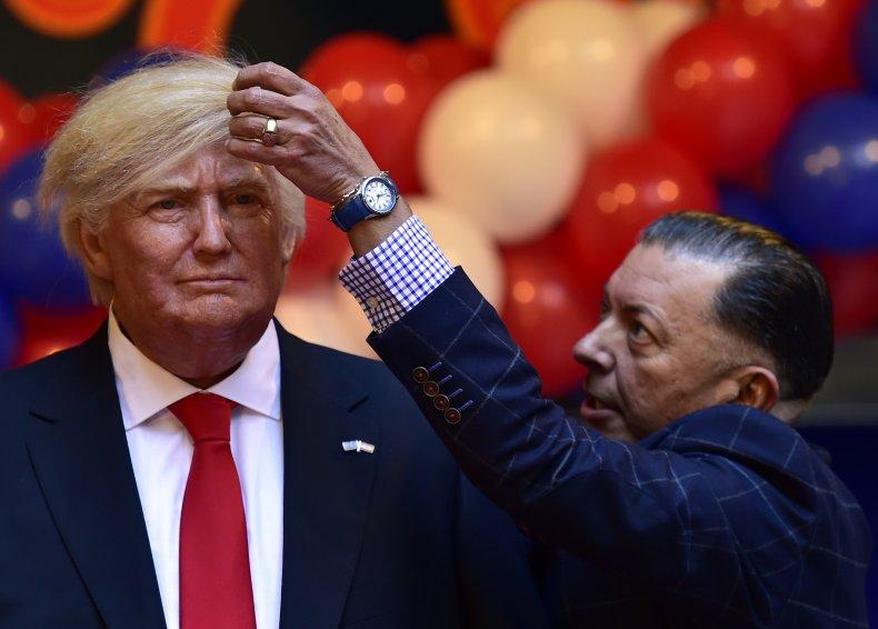 Donald Trump living statue Portland Oregon