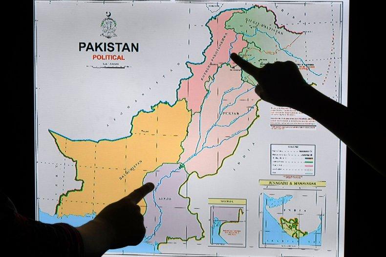 pakistan, india, new. political, map, kashmir